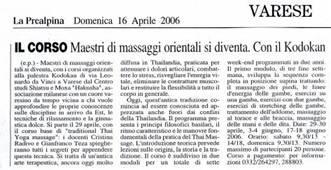 PREALPINA articolo corso THAI 16 Aprile 2006
