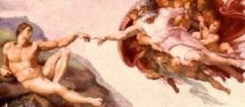 Cappella Sistina - Creazione di Adamo